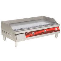 Avantco EG36N 36 inch Electric Countertop Griddle - 208/240V, 7488W-10080W
