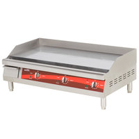 Avantco EG36N 36 inch Electric Countertop Griddle - 208/240V, 7.5/10.1 kW