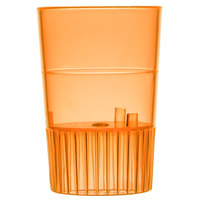 Fineline Quenchers 4110-ORG 1 oz. Neon Orange Hard Plastic Shooter Glass - 500/Case