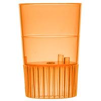 Fineline Quenchers 4110-ORG 1 oz. Neon Orange Hard Plastic Shooter Glass - 500/Case
