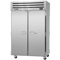 Turbo Air PRO-50R-PT 52 inch Premiere Pro Series Two Section Solid Door Pass-Through Refrigerator - 49 Cu. Ft.