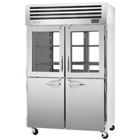 Turbo Air PRO-50R-GSH-PT Pro Series 52 inch Glass / Solid Half Door Pass-Through Refrigerator