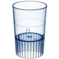 Fineline Quenchers 4110-BL 1 oz. Neon Blue Hard Plastic Shooter Glass - 500/Case