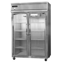 Continental Refrigerator 2R-GD 52 inch Two Section Glass Door Reach-In Refrigerator - 48 Cu. Ft.