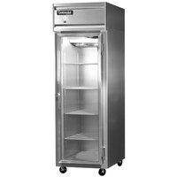 Continental Refrigerator 1R-GD 26 inch One Section Glass Door Reach-In Refrigerator - 21 Cu. Ft.
