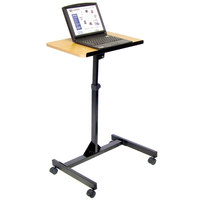 Luxor LX9128 Adjustable Height Mobile Lectern
