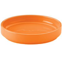 Hall China 32722325 Tangerine 38 oz. Colorations Scoop Plate - 6/Case