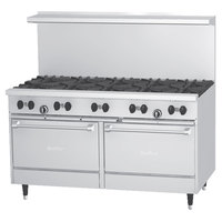 Garland SunFire Series X60-10RR Liquid Propane 10 Burner 60 inch Gas Range with Two Standard Ovens - 366,000 BTU