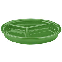 Hall China 31901324 Shamrock 9 1/16 inch x 1 1/8 inch Colorations 3 Compartment Divided Plate - 12/Pack