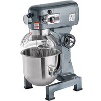 Avantco MX20 20 Qt. Gear-Driven Commercial Planetary Stand Mixer with Guard - 120V, 1 1/2 hp