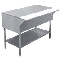 APW WT-5 22 1/2 inch x 79 inch Stainless Steel Work-Top Counter with Cutting Board and Galvanized Undershelf