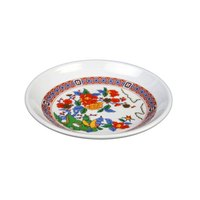 Thunder Group 1004TP Peacock 4 1/2 inch Round Melamine Plate - 12/Pack