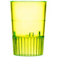 Fineline Quenchers 4110-Y 1 oz. Neon Yellow Hard Plastic Shooter Glass - 10/Pack