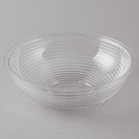 Cambro RSB8CW135 1.65 Qt. Clear Camwear Round Ribbed Bowl