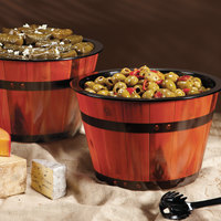 GET ML-271-BE 12 inch x 7 7/8 inch Melamine Gourmet Barrel - 3/Pack