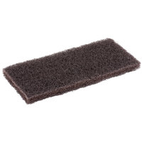Scrubble by ACS 631 10 inch x 4 1/2 inch Heavy-Duty Brown Multi-Purpose Scouring Pad - 5/Pack