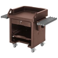 Cambro VCSWRHD146 Bronze Versa Cart with Dual Tray Rails and Heavy Duty Casters