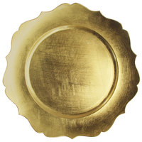 The Jay Companies 13 inch Round Gold Scalloped Edge Polypropylene Charger Plate