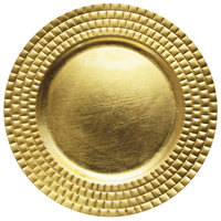 The Jay Companies 13 inch Round Gold Tiled Polypropylene Charger Plate