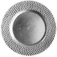 The Jay Companies 1182764 13 inch Round Silver Hammered Polypropylene Charger Plate