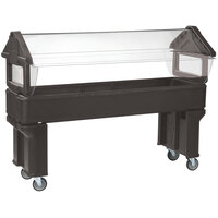 Carlisle 660601 Brown 6' Six Star Open Base Portable Food / Salad Bar