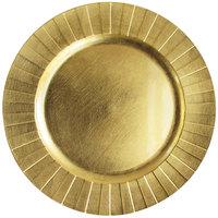 The Jay Companies 1182772 13 inch Round Gold Geometric Plastic Charger Plate