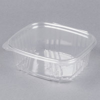 Genpak AD32 7 1/4 inch x 6 3/8 inch x 2 5/8 inch 32 oz. Clear Hinged Deli Container - 100/Pack