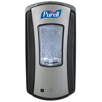 Purell® 1928-04 LTX-12 Brushed Chrome / Black 1200 mL Touchless Dispenser