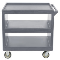 Cambro BC235 Granite Gray Three Shelf Service Cart - 37 1/4 inch x 21 1/2 inch x 34 5/4 inch