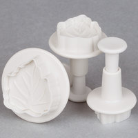 Ateco 1953 3-Piece Leaf Plastic Plunger Cutter Set (August Thomsen)