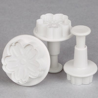 Ateco 1951 3-Piece Daisy Plastic Plunger Cutter Set (August Thomsen)