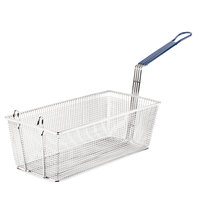 Pitco P6072184 17 1/4 inch x 8 1/2 inch x 5 3/4 inch Twin Fryer Basket with Front Hook