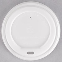 EcoChoice 8-20 oz. White Compostable Paper Hot Cup Lid - 50/Pack
