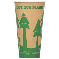 EcoChoice 20 oz. Kraft Compostable and Biodegradable Paper Hot Cup - 50/Pack