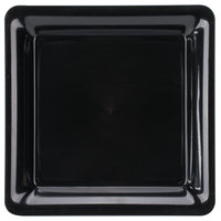 Fineline 3522-BK Platter Pleasers 12 inch x 12 inch Black Square Plastic Serving Tray