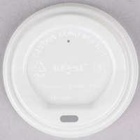 EcoChoice 8 oz. White Compostable Paper Hot Cup Lid - 50/Pack