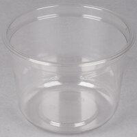 Genpak SC032 32 oz. Clear Round Supermarket Container - 300 / Case