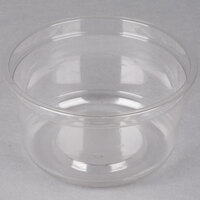 Genpak SC025 25 oz. Clear Round Supermarket Container - 300 / Case