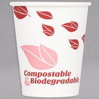 EcoChoice 8 oz. Leaf Print Compostable Paper Hot Cup - 1000/Case