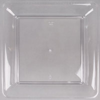 Fineline 3522-CL Platter Pleasers 12 inch x 12 inch Clear Square Plastic Serving Tray