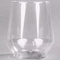 WNA Comet RESSGL12 Reserv 12 oz. Clear Plastic Stemless Wine Goblet   - 16/Pack
