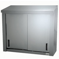 Advance Tabco WCS-15-96 96 inch Stainless Steel Wall Cabinet with Sliding Doors