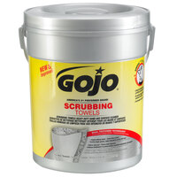 GOJO® 6396-06 Scrubbing Towels Heavy Duty Wipes 72 Count Canister - 6/Case