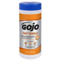 GOJO® 6282-06 Fast Towels Hand Cleaning Wipes 25 Count Canister - 6/Case