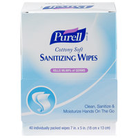 Purell® 9025-12 Cottony Soft Sanitizing Wipes 40 Count Self-Dispensing Display Box - 12/Case