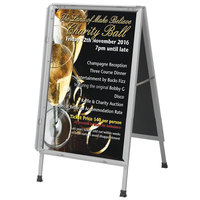 Aarco 22 inch x 28 inch Satin Aluminum Snap Frame A-Frame Sign