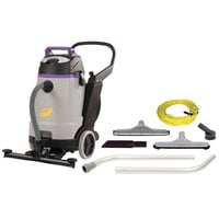 ProTeam 107359 15 Gallon ProGuard 15 Wet / Dry Vacuum with Tool Kit and Front Mount Squeegee - 120V