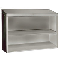 Advance Tabco WCO-15-72 72 inch Stainless Steel Open Wall Cabinet