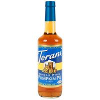 Torani 750mL Sugar Free Pumpkin Pie Flavoring Syrup