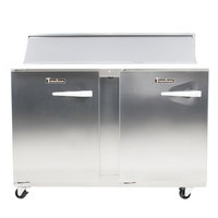 Traulsen UPT4812-LL 48 inch 2 Left Hinged Door Refrigerated Sandwich Prep Table